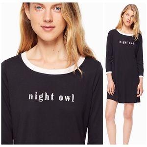 🆕 Kate Spade Night Owl sleep shirt nightshirt